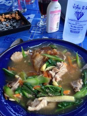 Thai vegetable soup dish