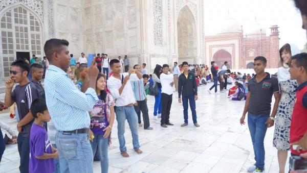 princess at Taj with group